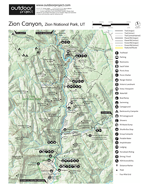 Watchman Campground Map
