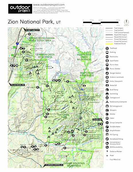 Canyon Overlook Trail Hike Trail Map
