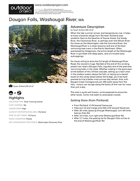 Dougan Falls Field Guide