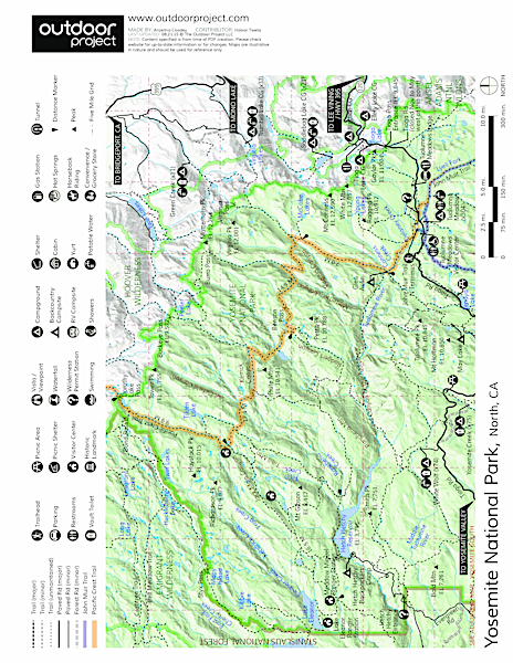 Bridalveil Creek Campground Map