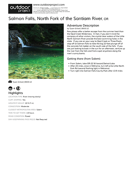 Salmon Falls Field Guide