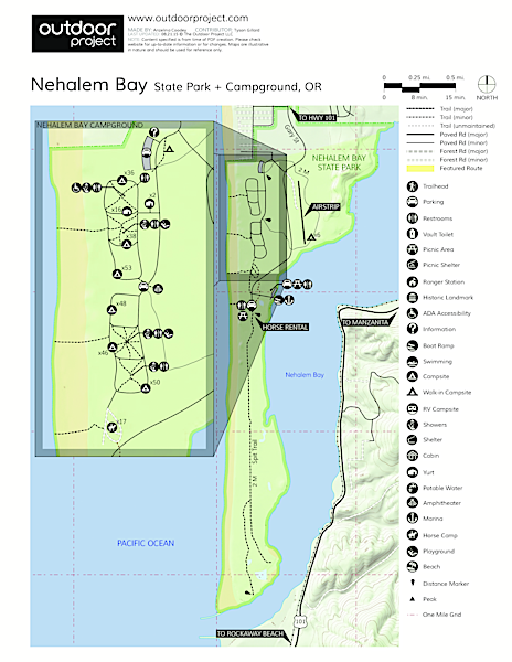 Nehalem Bay State Park Campground Map