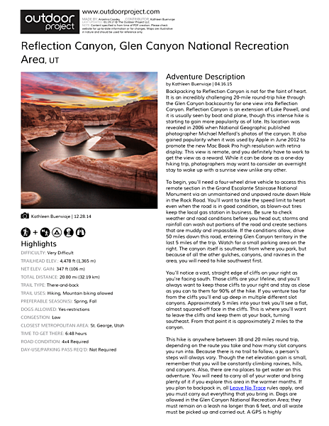 Reflection Canyon Field Guide