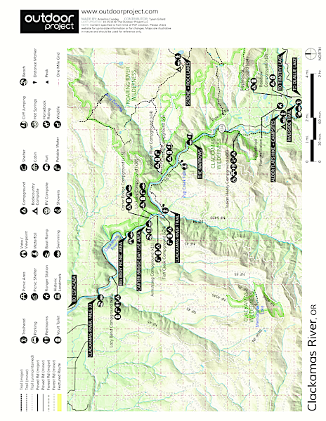 The Narrows Swimming Hole Map