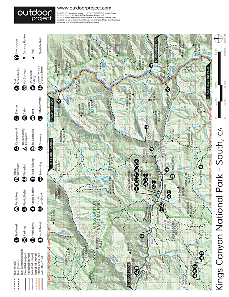 Sentinel Campground Map