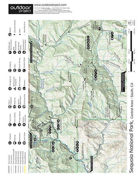 Buckeye Flat Campground Map