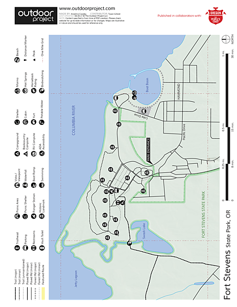 Fort Stevens State Park Campground Map