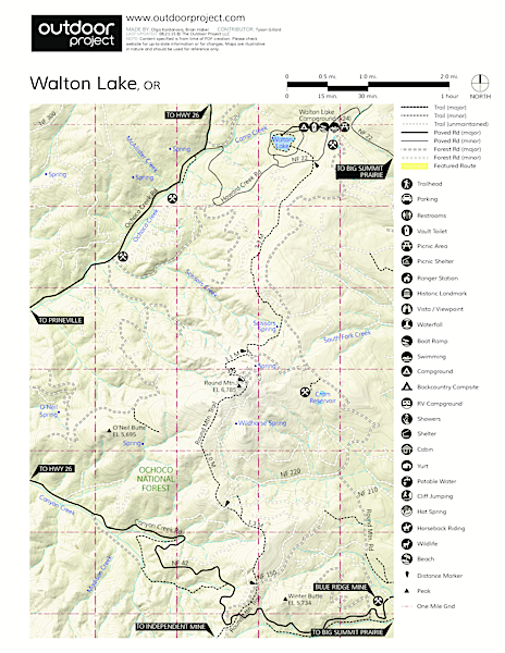 Walton Lake Map