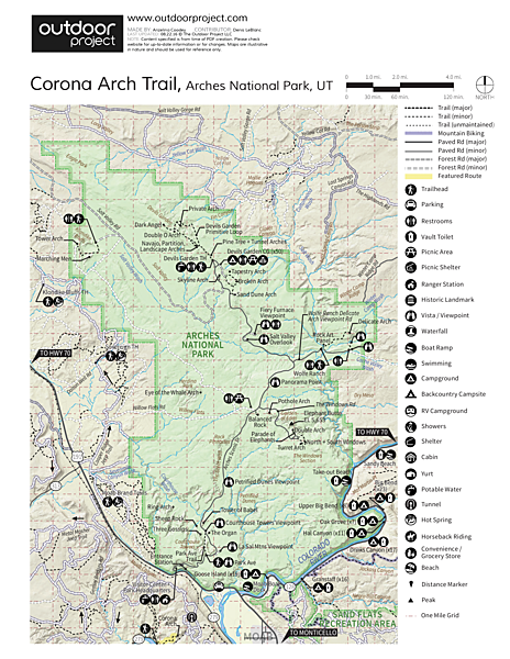 Corona Arch Trail Trail Map