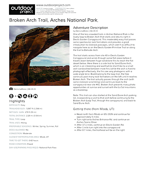Broken Arch Trail Field Guide