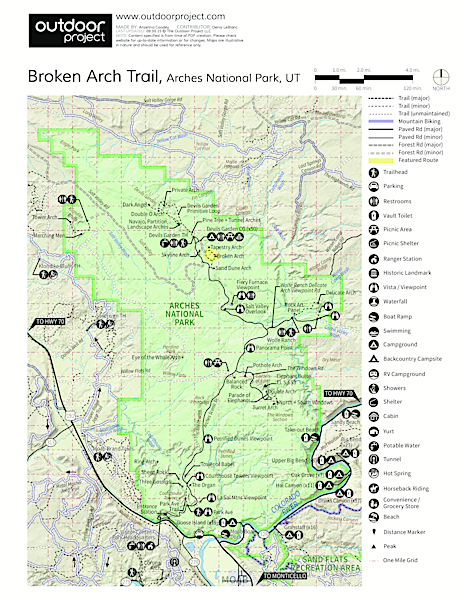 Broken Arch Trail Trail Map