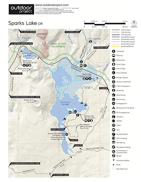 Sparks Lake Field Guide