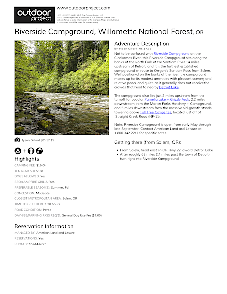 Riverside Campground Field Guide
