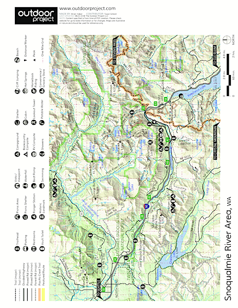 South Fork Snoqualmie River at Homestead Valley Road Bidge Map