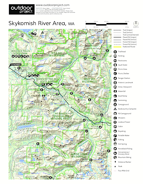 Skykomish River, Big Eddy Park Map