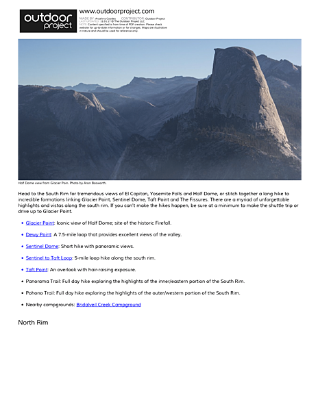 Yosemite National Park Field Guide