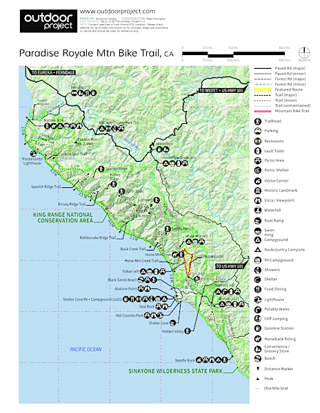 Paradise Royale Mountain Bike Trail Map