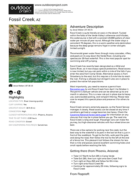 Fossil Creek Field Guide