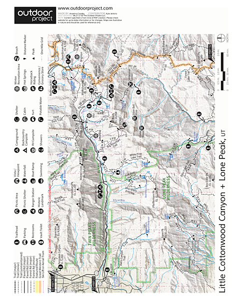 Catherines Pass Hike Trail Map