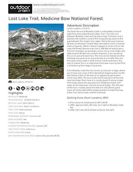 Lost Lake Trail Field Guide