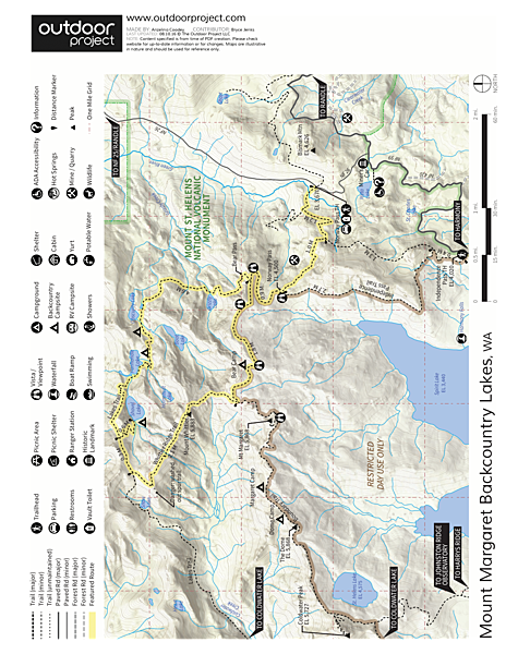Mount Margaret Backcountry Lakes Trail Map