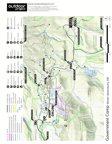 Enid Lake Ski Snowshoe Loop Trail Outdoor Project