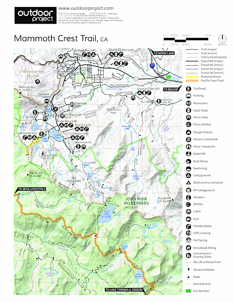 Mammoth Crest Trail Trail Map