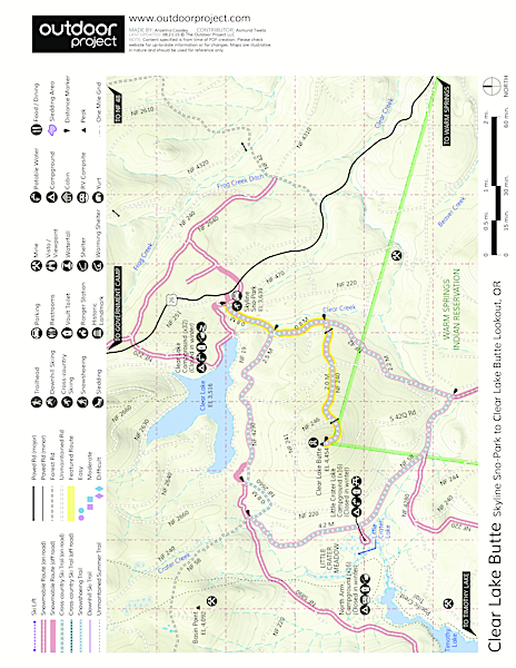 Clear Lake Butte Map
