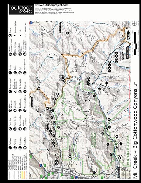 Ferguson Canyon Trail Hike | Outdoor Project on canyons park city ski map, park city lift map, sedona arizona hiking trails map, canyons resort village map, canyons ski trail map, the canyons ski resort, the canyons park city, grand canyon hiking map, into the wild trail map, utah canyons map,