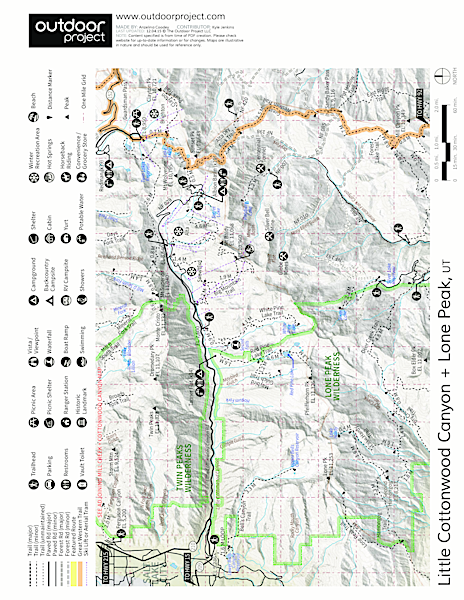 Albion Basin Campground Map