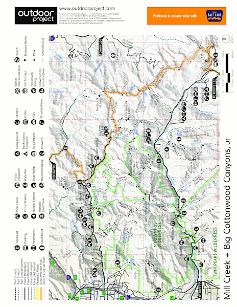 Donut Falls Trail Map