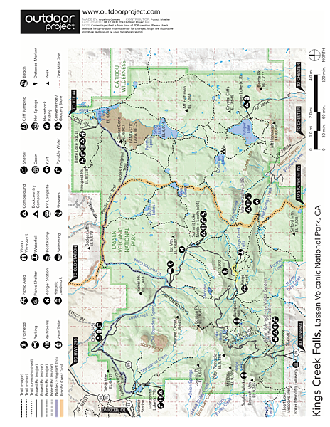 Kings Creek Falls Trail Map