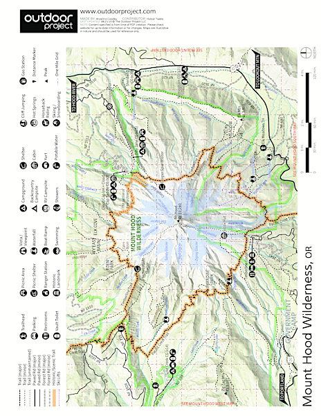 Mt. Hood Meadows Westside Map