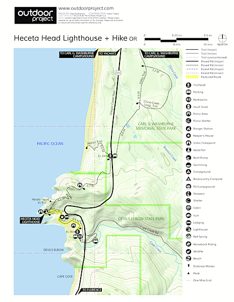 Heceta Head Lighthouse Trail Map