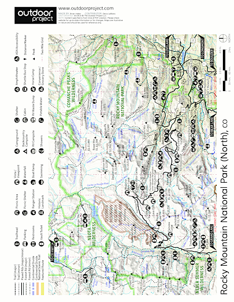 Alpine Ridge Trail Hike Trail Map