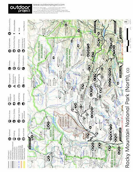 Moraine Park Campground Map