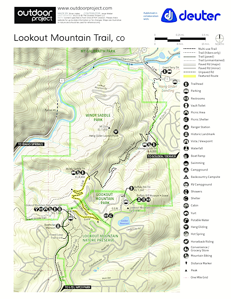 Lookout Mountain Trail Trail Map