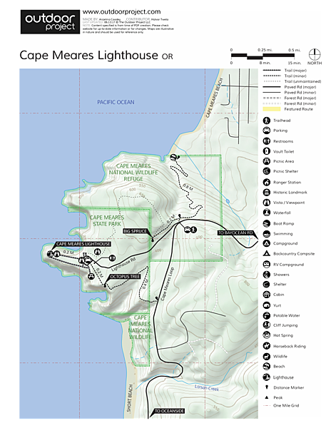 Lighthouses In Oregon Map.Cape Meares Lighthouse Outdoor Project