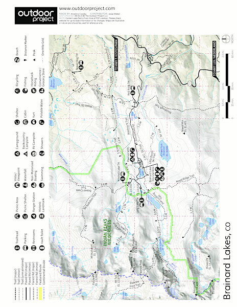 Brainard Lake Recreation Area Map