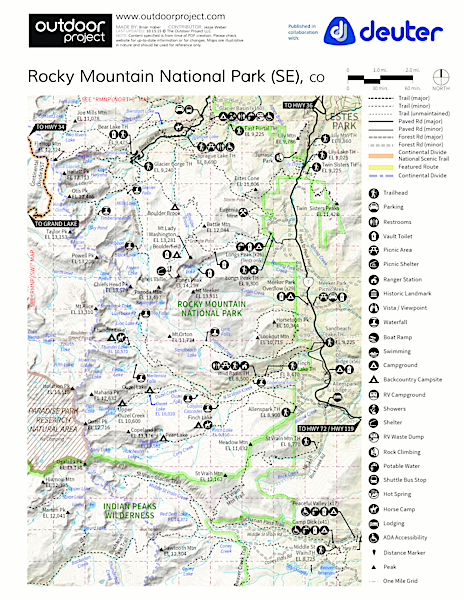 Lily Mountain Hike Trail Map