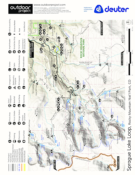 Sprague Lake Loop Hike Trail Map