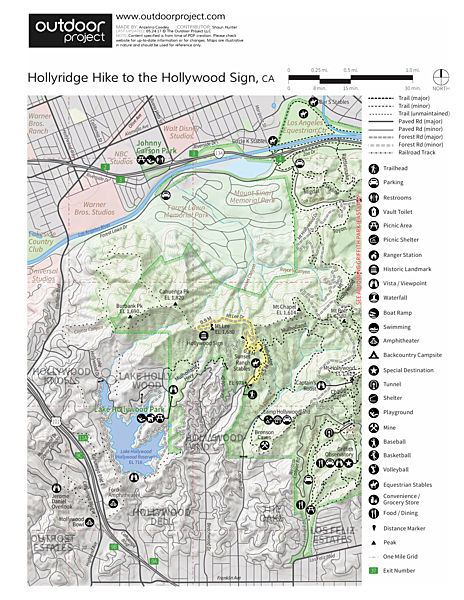 Hollywood Sign via Hollyridge Trail Trail Map