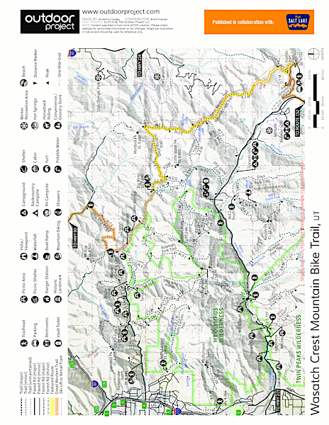Wasatch Crest Mountain Bike Trail Map
