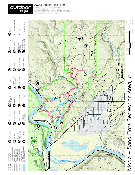 Sand Flats Recreation Area Map