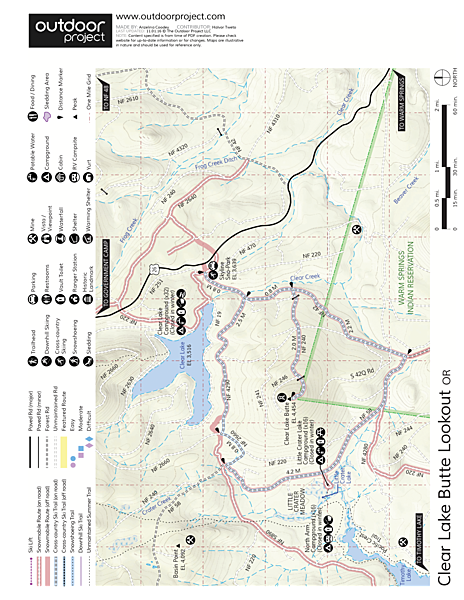 Clear Lake Butte Lookout Map