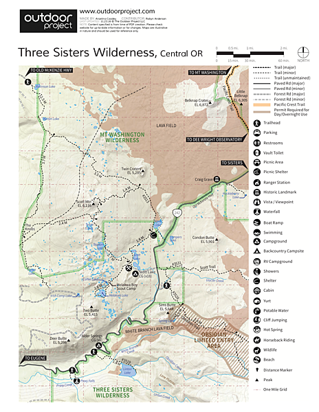 Alder Springs Campground Map