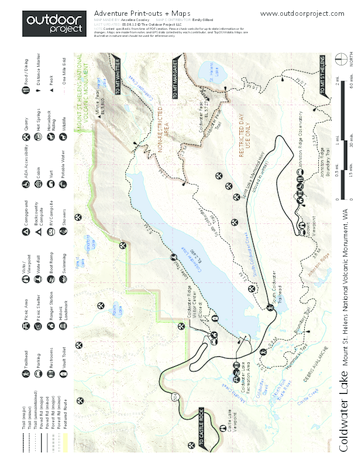 Mount St. Helens National Volcanic Monument Map