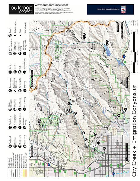 The Living Room Hike Trail Map