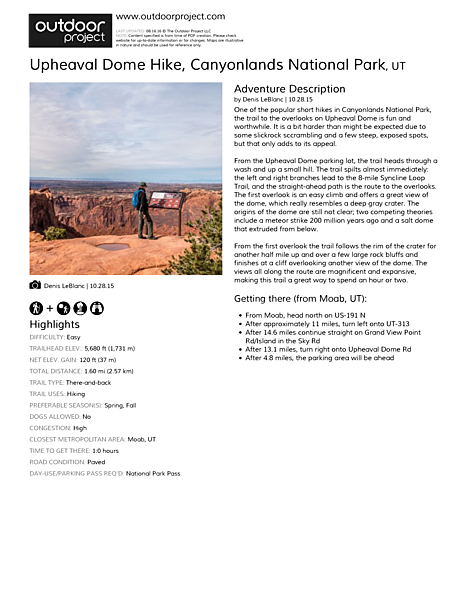 Upheaval Dome Hike Field Guide