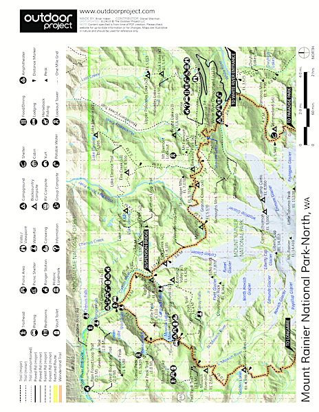 Tamanos Mountain Hike Trail Map